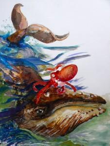 Walvis en octopus
