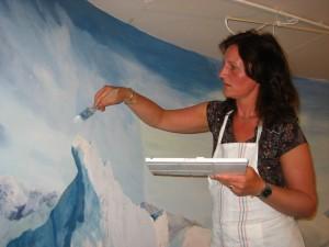 schildering Noordpoollandschap